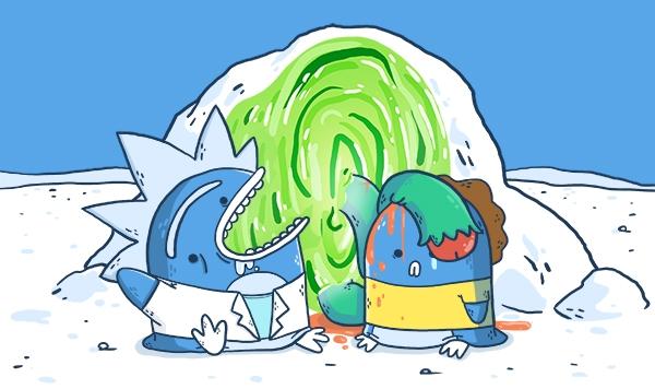 Arnaud nous a un fait un pastiche de son dessin animé préféré : Rick et Morty, dont le ton cru et faussement enfantin influencent beaucoup son style !