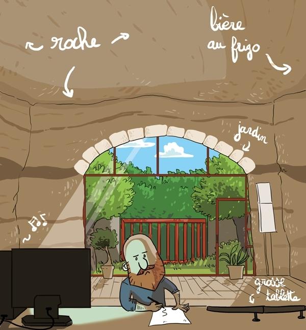 Avant de rendre visite au Vilain dans sa caverne créative, allez sur son blog !