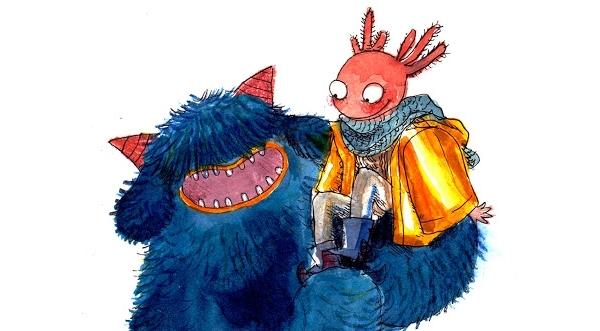 À travers les personnages Perrine l'Axolotl et Marin le Monstre bleu, Zoé Bergeret veut parler de l'amitié dans toute sa simplicité et sa complexité.