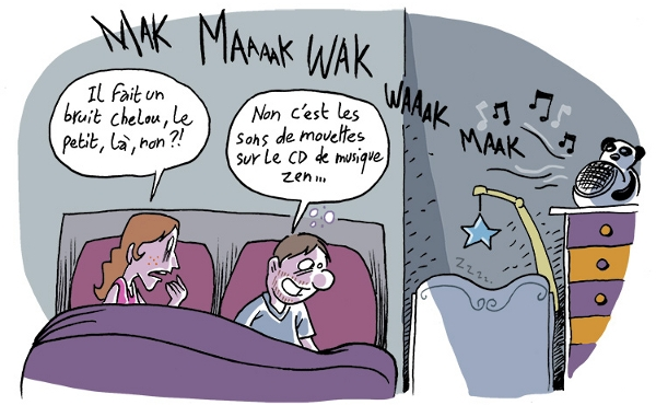 Ces derniers temps les instants de paternité inspirent Wayne quelques notes illustrées.