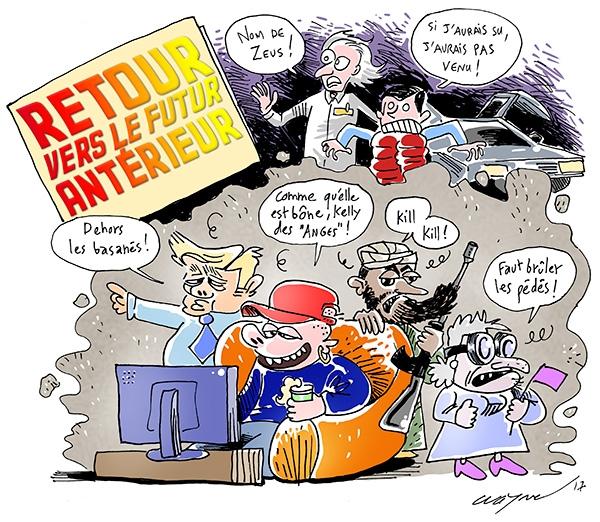 Au-delà de la BD, Wayne a grandi au rythme des aventures de McFly de la trilogie Retour Vers Le Futur !