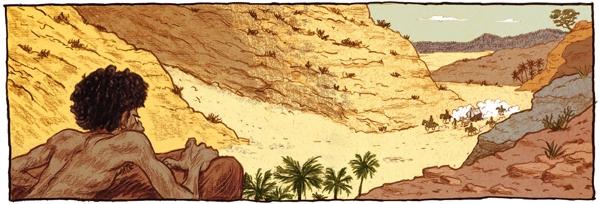 Berkan le Numide, sur le point de voir son destin changé à tout jamais dans Les Voleurs de Carthage !
