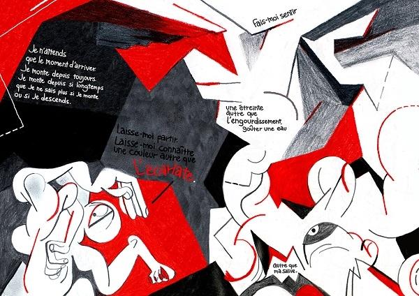 Dans ses planches, Kathrine Avraam partage des bouts d'intimité, tels que sa peur de l'immobilité.
