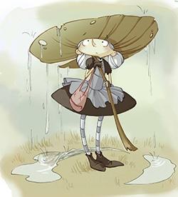 Nini la petite sorcière prête pour mener l'enquête !