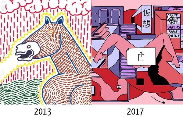 Durant ses études, Arthur Binois a peu à peu jeté son dévolu sur les couleurs numériques.