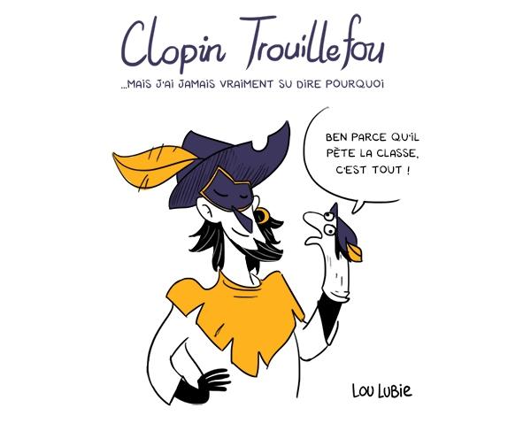 Toute petite, Lou Lubie vouait une adoration envers les personnages hauts en couleurs, comme Clopin Trouillefou, du dessin animé Le Bossu de Notre-Dame