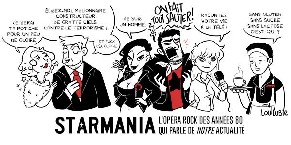 Pour cette Toile montante, Lou Lubie a reinterprété son oeuvre favorite : l'opéra-rock Starmania !