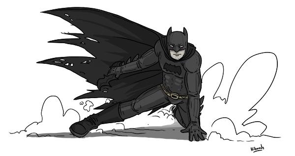 Pour cette Toile montante, Hibouch a croqué son héros d'enfance : Batman !