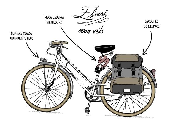 Que ce soit au boulot ou dans sa vie personnelle : le vélo d'Hibouch est le meilleur compagnon pour surmonter les mésaventures quotidiennes !
