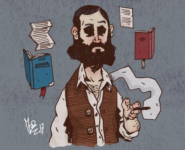 Pour cette Toile montante, Marc Brouillon a dessiné le personnage qui l'a réconcilié avec la littérature : Jacques Vingtras, de la trilogie éponyme de Jules Vallès