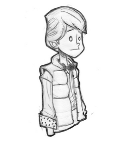 Pour cette Toile montante, Jean-Baptiste Mus a griffoné le héros de son enfance : Marty McFly