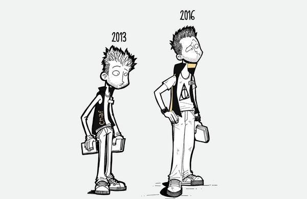 En 3 ans, le trait de Jean-Baptiste Mus a bien changé. Pour constater l'évolution, rendez-vous sur son blog !