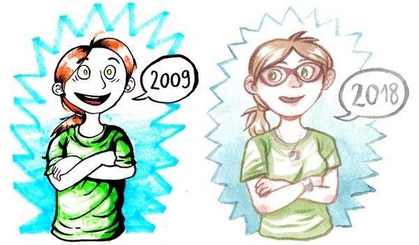 En l'espace de 9 ans, le trait rond de Zélie n'a cessé de s'affûter