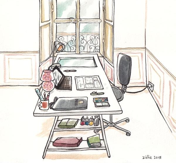 Avant de visiter l'atelier de Zélie, rendez-vous sur son blog !