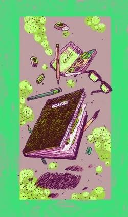 Partout où Hugo de Faucompret, son carnet et son crayon ne le quittent jamais !