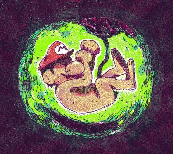 Pour cette Toile montante, Hugo a dessiné son personnage préféré : Mario