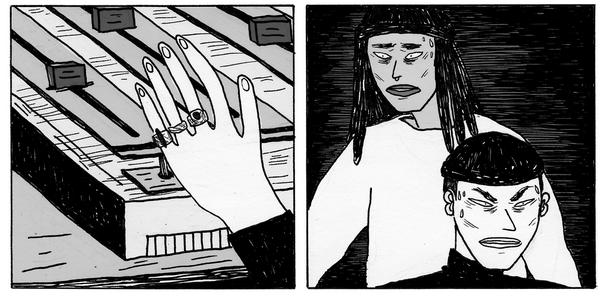 Dans ses dessins, Ibticem met en avant une culture urbaine qui se fraye une place dans l'art.