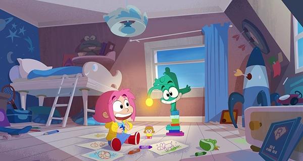 Image extraite du dessin animé Ernest et Rebecca