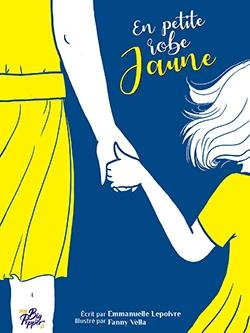 Couverture de la BD en petite robe jaune