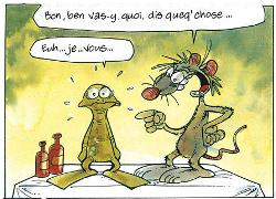 Pas facile pour rats et grenouilles de faire la paix !