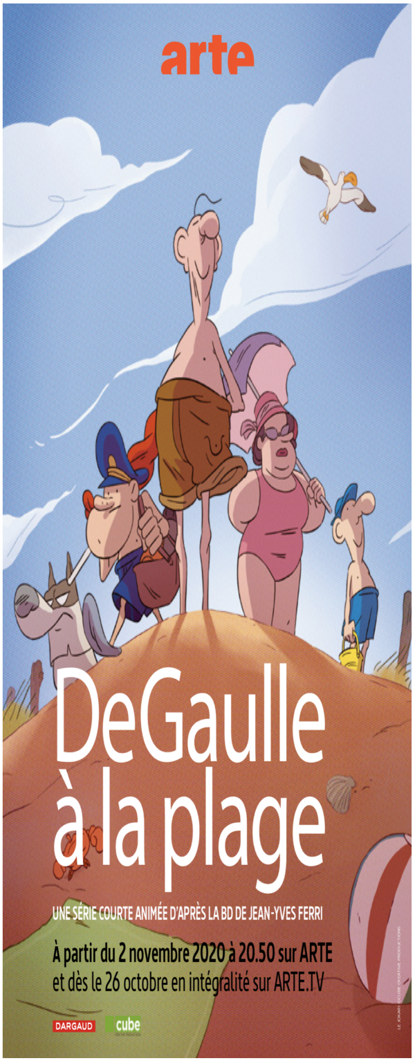 Affiche de De Gaulle à la plage