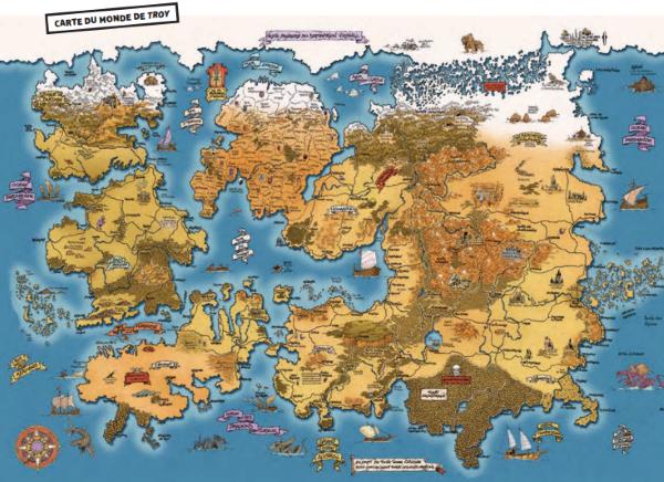L'énorme carte du monde de Troy, imaginé par Christophe Arleston
