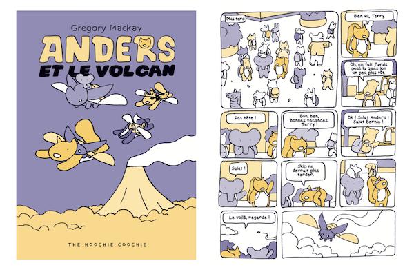 Anders et le volcan, le premier tome de Gregory Mackay la série de