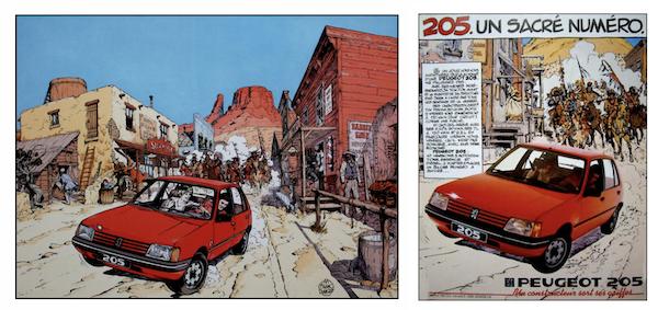 La publicité de Citroën à droite