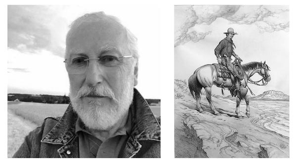 Le dessinateur a une passion pour le dressage et les chevaux