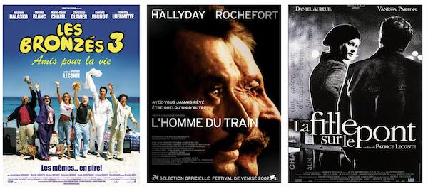 Plusieurs films de Patrice Leconte