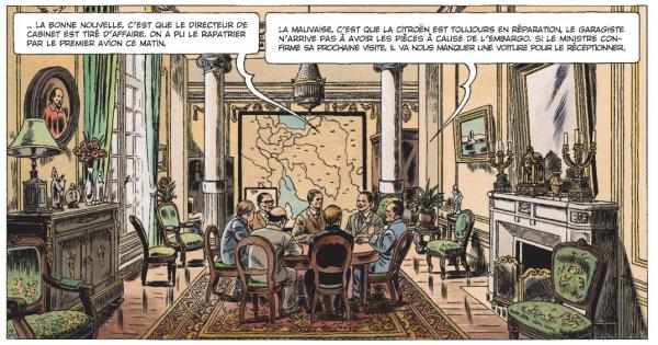 Le dessin réaliste et rétro de Christophe Simon s'épanouit dans Chroniques diplomatiques