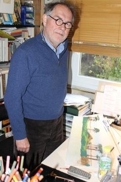 André Juillard, dans son atelier