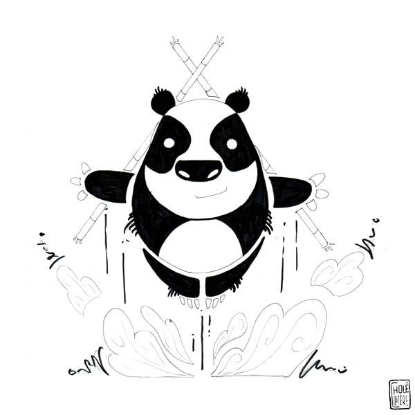 Pour cette Toile montante , Choléoptère nous a croqué son objet fétiche : sa peluche panda qui la protège contre le forces du mal depuis sa naissance !