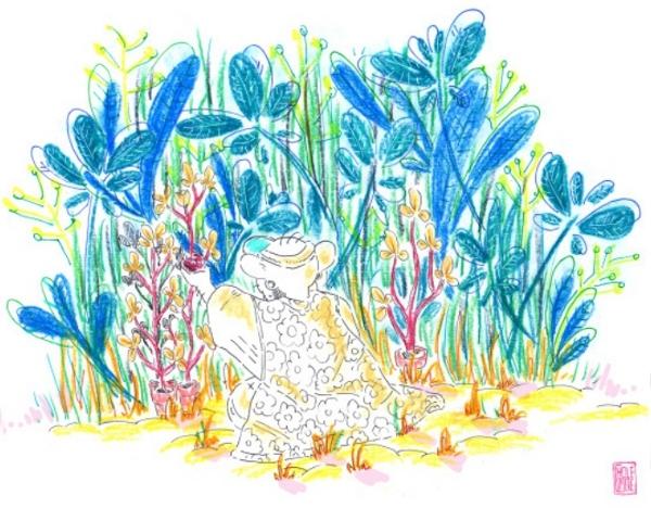 Dans ses dessins, Choléoptère nous transporte dans un tourbillon de couleurs !