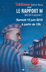 Gaétan Nocq en dédicace samedi 15 juin pour «Le rapport W» - Librairie Legend BD
