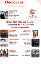Dédicaces pour les 15 ans de Krazy Kat