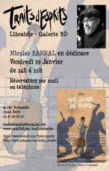 Dédicace de Nicolas Barral