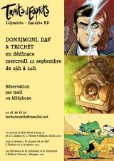 Dédicace de Cyril Trichet, Dav et Régis Donsimoni