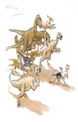 Mimo sur les traces des dinosaures, dans les pas du dessinateur Mazan