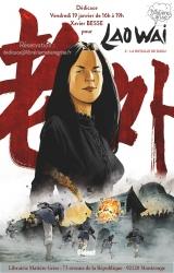 Xavier Besse en dédicace vendredi 19 janvier pour « Laowai » tome 2  - Librairie Matière Grise