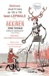 Iwan Lepingle en dédicace jeudi 8 mars pour « Akkinen »  - Librairie Matière Grise