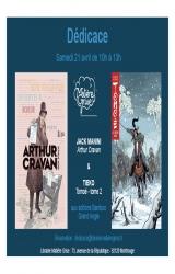 Jack Manini et Tieko en dédicace samedi 21 avril pour « Arthur Cravan » et « Tomoé » tome 2  - Libra