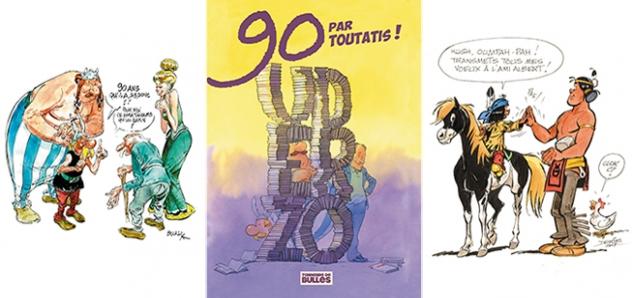 Un avant goût de l'exposition hommage à Uderzo avec les dessins de Boucq, Zep et Derib !