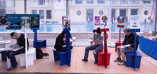 Le festival, c'est aussi un espace de lecture ! (photo Alexandre Sargos)