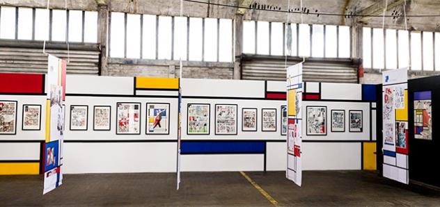 Un aperçu de l'expo La fleur de Mondrian (photo de Vincent Hecquet)