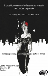 Exposition-ventes de planches originales du dessinateur cubain Alexander Izquierdo