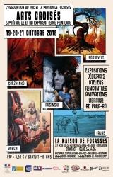 ARTS CROISÉS: 5 MAÎTRES DE LA BD EXPOSENT LEURS PEINTURES